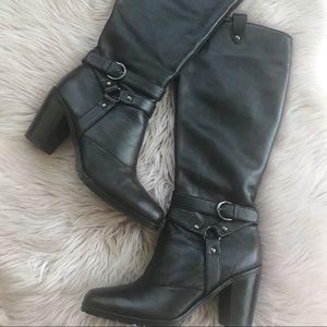 Matisse Dillon Black Leather Riding Boots Sz 9.5